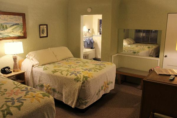 Room 15, another double, is furnished almost entirely with original furnishings dating to the early 1950's.