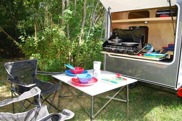 All the camping, cooking, cleaning and comfort gear is provided!
