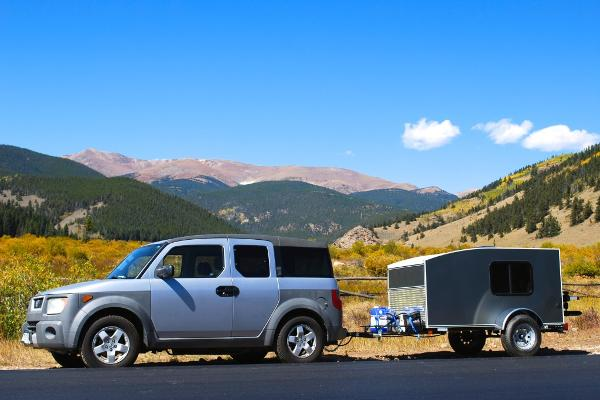 Any car with a hitch can tow these lightweight teardrop campers!