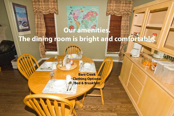 Join usin our spacious dining room for breakfast