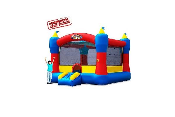 This Magic Castle is Perfect Birthday Bouncer for your little Hero, at an unbeatable price! This Commercial Grade bouncer is a popular selection for birthday parties, church events, rec. centers and