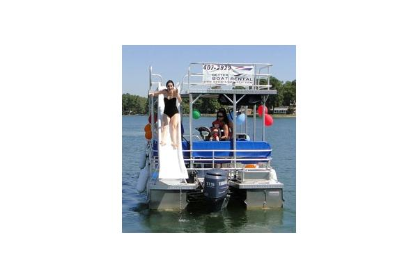 25' Double Deck Pontoon with Water Slide