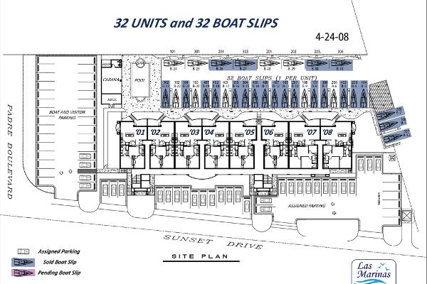 Assigned boat slips