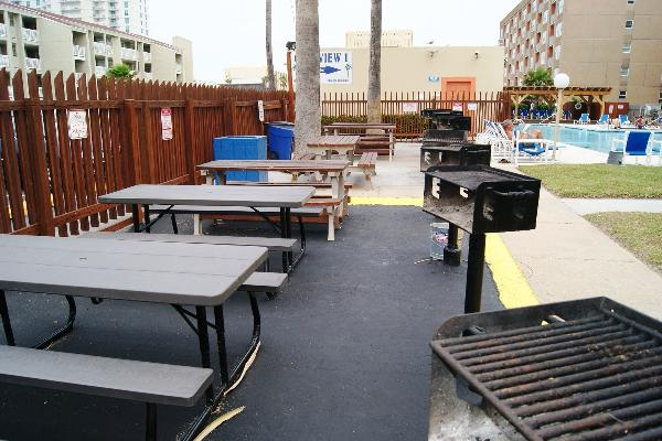 BBQ pit area
