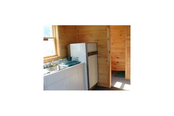 Cabins have fully equipped kitchens and full bathroom