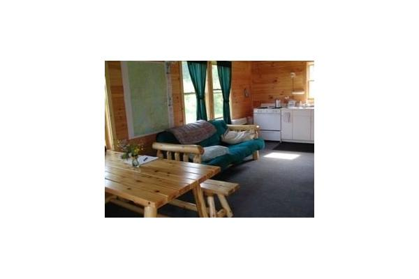 Cabins have fully equipped kitchens
