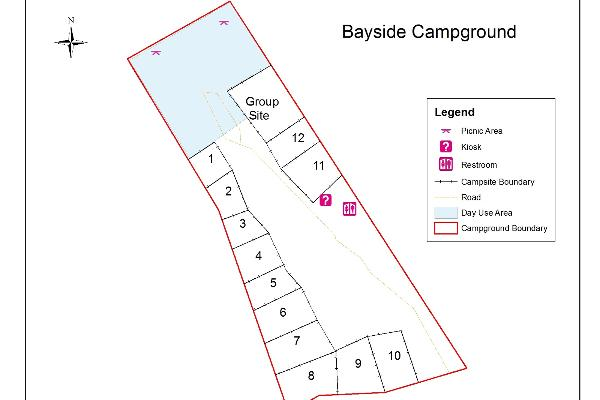 Bayside Campground Map