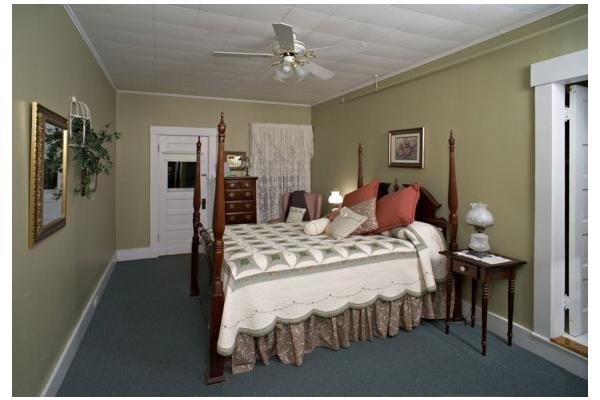 Room 10 with King Bed, Private Bath, access to 2nd floor porch.