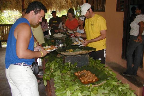 Lunch, typical Fresh made Dominican Buffet