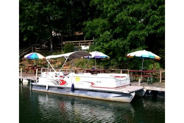 BOAT #1  24 Foot, 3 couches, captains chair, table, Sun bed.