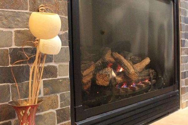 Our guests love the warmth of the gas fireplace.