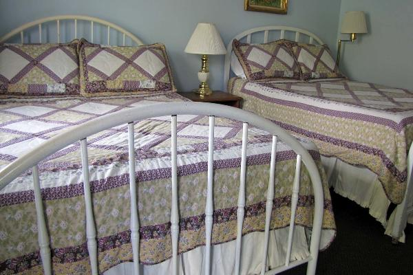 Two double beds downstairs