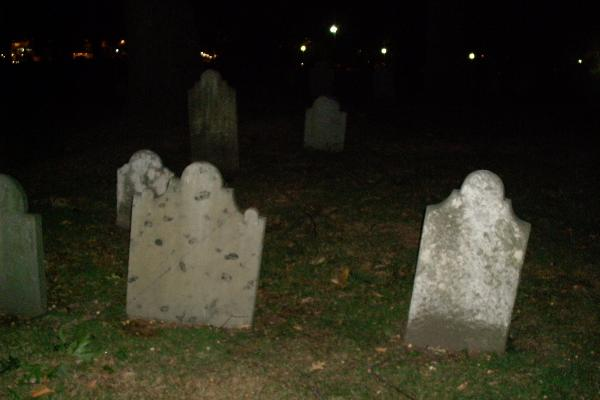 Central Burying Ground Cemetery - is that a ghost in the background?