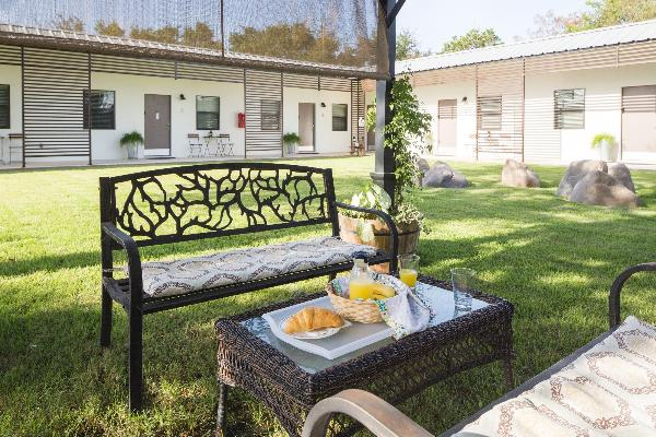 Our tranquil courtyard offers 2 BBQ grills for your use.