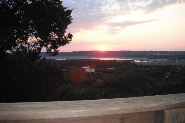 Lake Travis Tree Lodge - view from your deck!