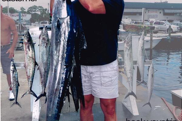 Record sailfish caught by happy customer recently