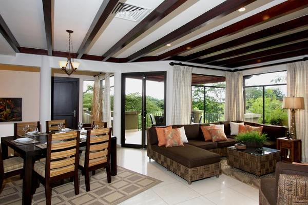 Luxury Vacation Home in Reserva Conchal - Upstairs Living Area