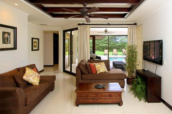 Luxury Vacation Home in Reserva Conchal - Downstairs Living Area