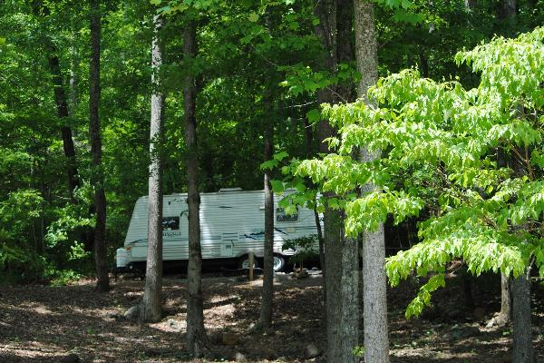 Shaded and Secluded our popular RV rental unit - Site 11