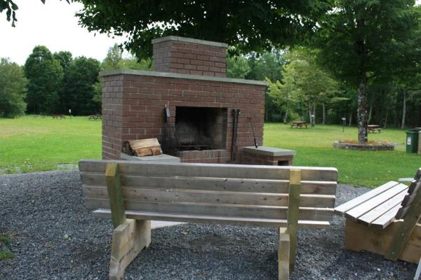 Outdoor fireplace for camping use