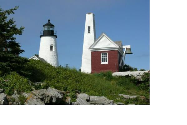 Lighthouses on the rocky coast of Maine