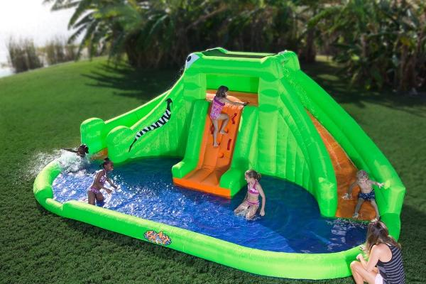 Croc inflatable waterslide