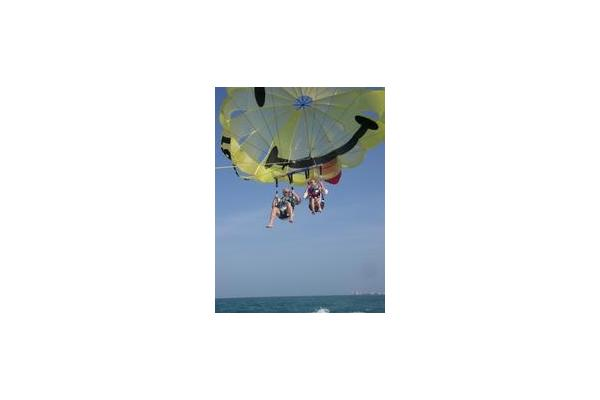 Parasailing off Madeira Beach, Florida with Gators Parasail in John's Pass