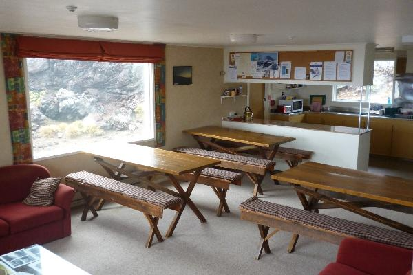 Dining room - with fantastic views of Mt Ngauruhoe