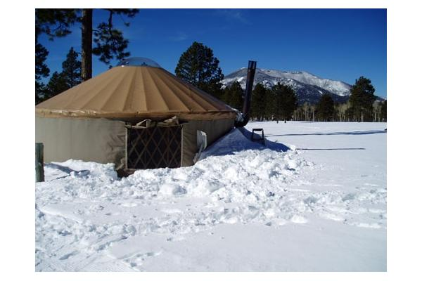 The yurt in the snow