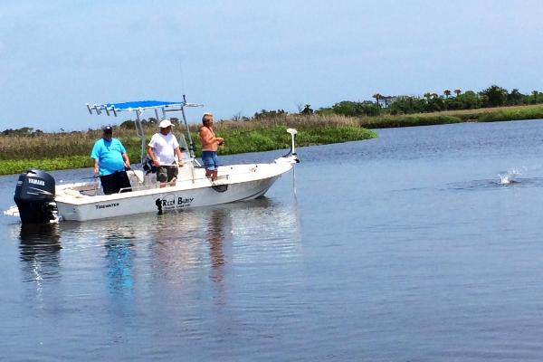 Back water fishing Oak Island, NC