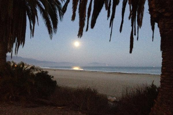Full Moon Rising in Santa Barbara