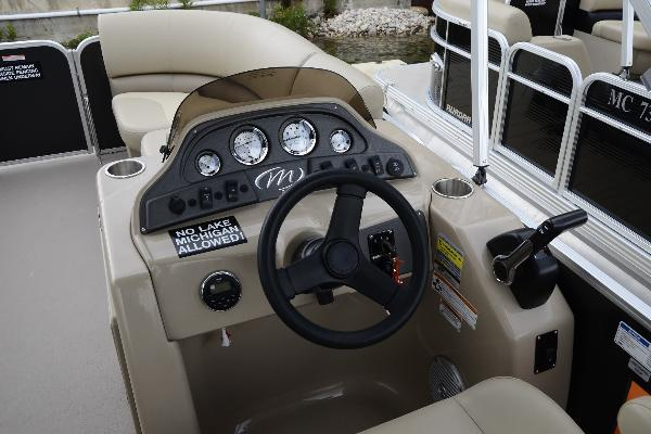 Captains helm with bluetooth radio and easy to use controls