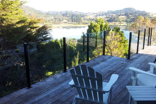 Private deck to soak up the view from the Fantail Suite