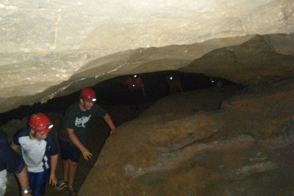 Caving Manitou Cave