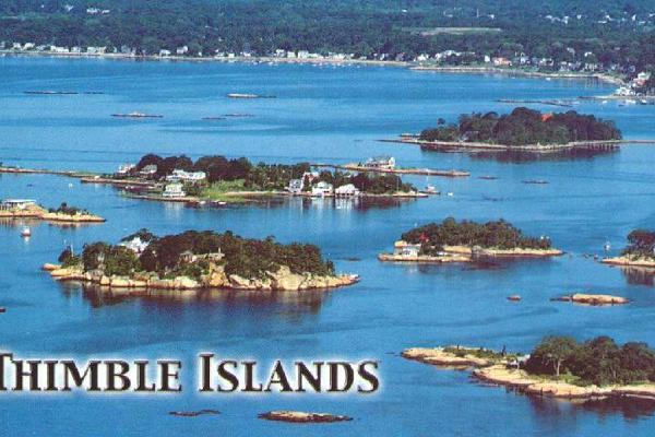 A Thimble Islands aerial photo