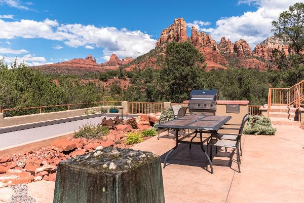 Grill and dine alfresco at one of two community areas.