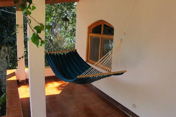 We have a great hammock on the balcony to enjoy the lake view