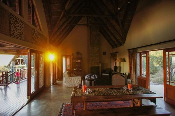 The lodge is tastefully decorated with a African theme