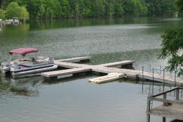 Most cabins have boat docks!