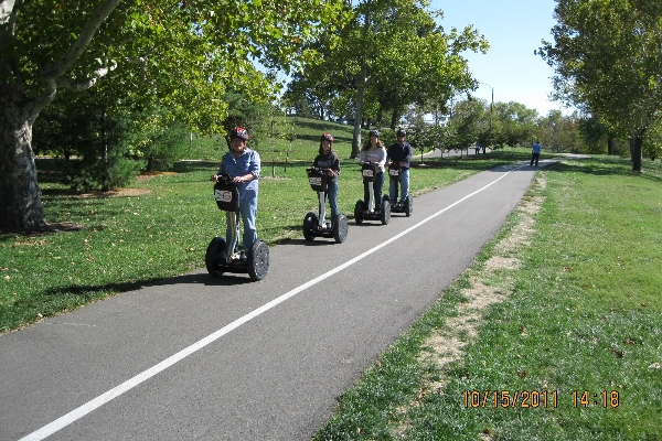 Miles of paved pathes at Forest Park!